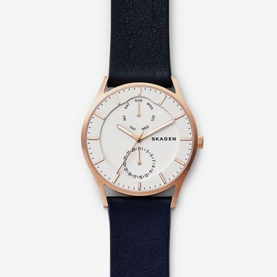 Holst Dark Blue Leather Multifunction