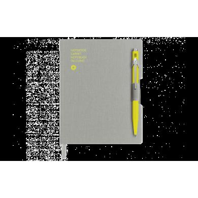 Сет химикалка и тефтер 849 Yellow & A6 Grey