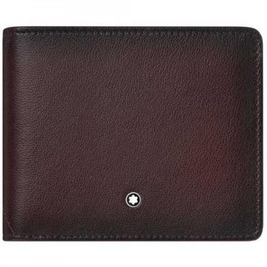Портфейл - Meisterstück Sfumato Wallet, Burgundy, Leather, 6 Cards