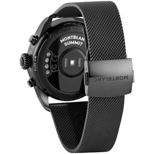Summit 2 Black Steel and Milanese Steel Bracelet 42 mm