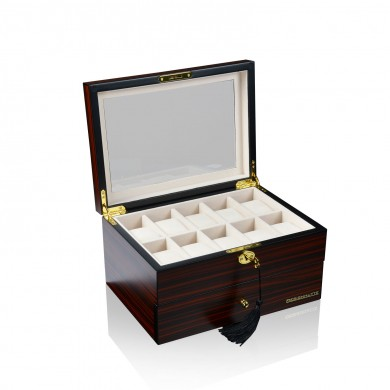 Кутия за часовници - Watch Box for 20 Watches - Watch Case Brown Wood