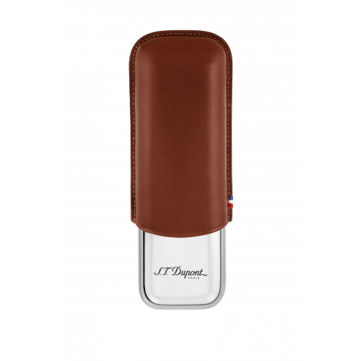 Калъф за 2 пури S.T.DUPONT / DOUBLE CIGAR CASE BROWN