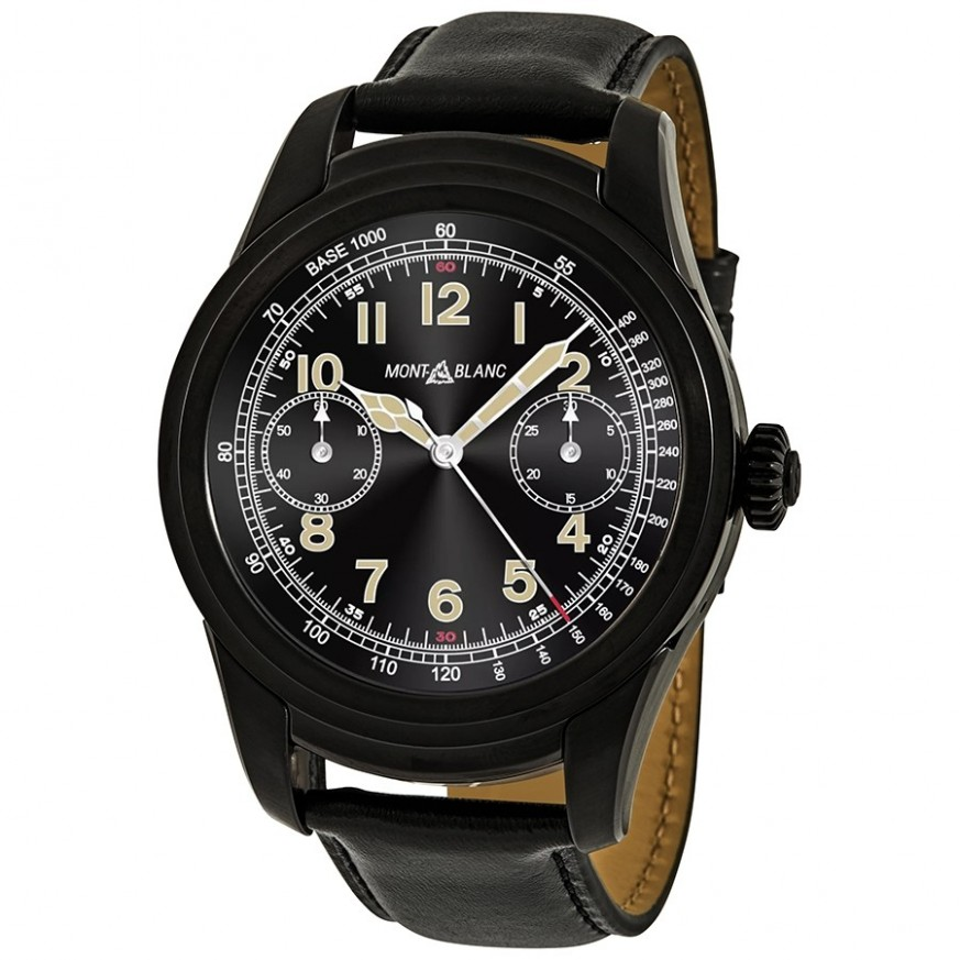 Summit 1 Black leather strap