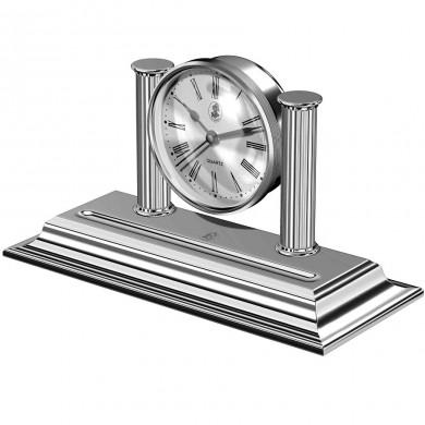 Настолен часовник с място за пишещ инсрумент Shiny Chrome