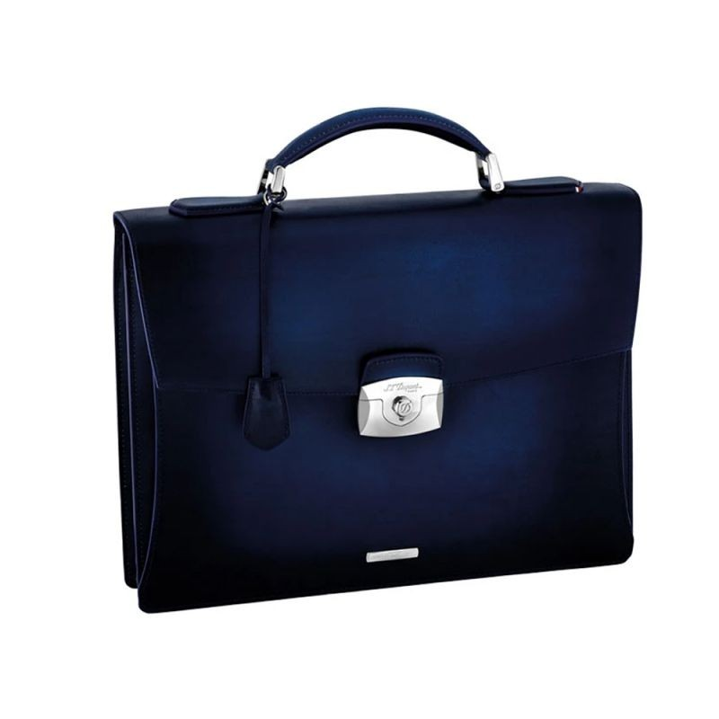 Бизнес куфар ATELIER/ONE GUSSET BRIEFCASE, LEATHER & SILVER FINISHES