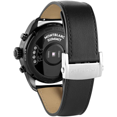 Summit 2 Black Steel and Leather 42 mm