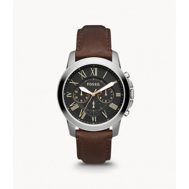 Grant Chronograph Brown Leather