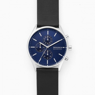 Holst Chronograph Black Leather
