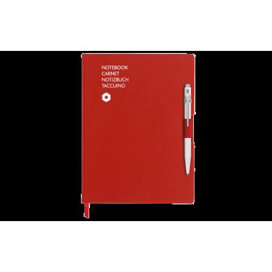 Сет химикалка и тефтер 849 White & A5 Red