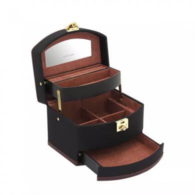 Кутия за бижута - Jewelry Box Copenhagen 2.0 S - Black/Rouge