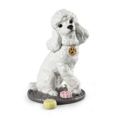 Порцеланова фигура - Poodle with Mochis Dog