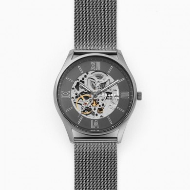 Holst Automatic Gunmetal Steel-Mesh