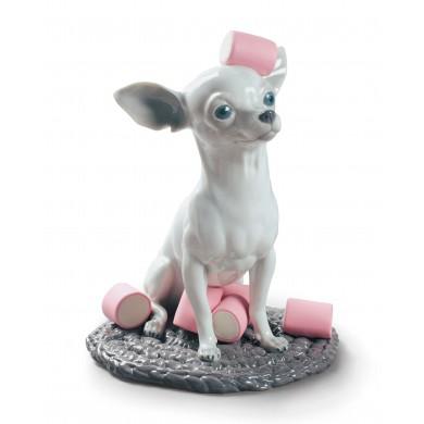 Порцеланова фигура - Chihuahua with Marshmallows Dog Figurine