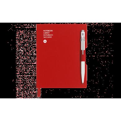 Сет химикалка и тефтер 849 White & A6 Red