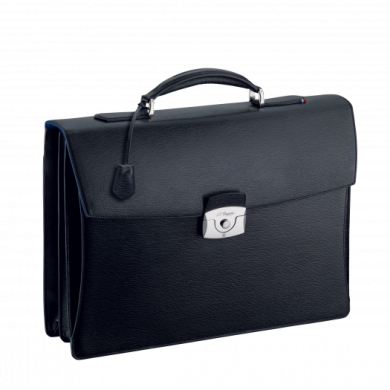 Бизнес куфар двоен LINE D CONTRAST/DOUBLE GUSSET BRIEFCASE BLACK