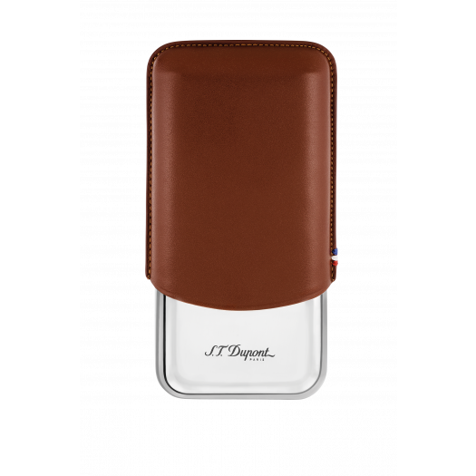 Калъф за 3 пури S.T.DUPONT / TRIPLE CIGAR CASE BROWN