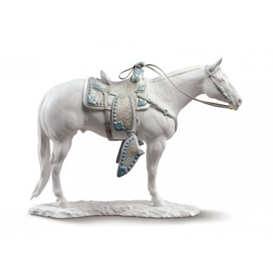 Порцеланова фигура – White Quarter Horse Sculpture