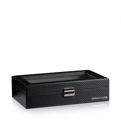 Кутия за часовници - Watch Box Boston 12 - Carbon / Grey