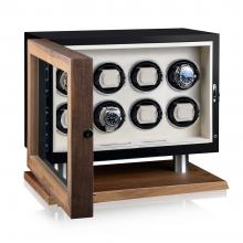 Кутия за навиване на часовници- Watch Winder New York 8- Black / Creme