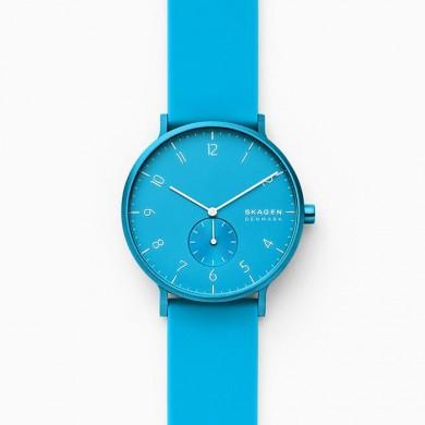 Aaren Kulor Neon Blue Silicone 41mm