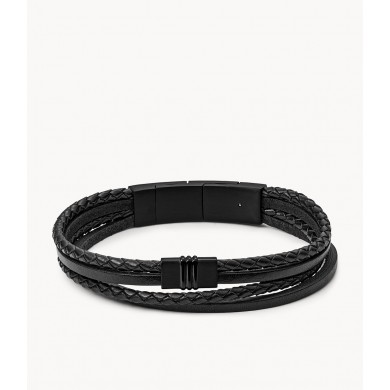 Мъжка гривна Vintage Casual Multi-Strand Black Leather