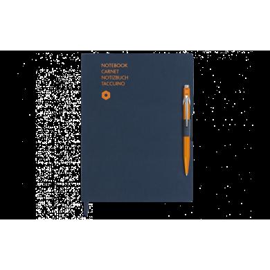 Сет химикалка и тефтер 849 Orange & A6 Blue