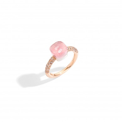 Пръстен - Rose Quartz Nudo Petit Ring