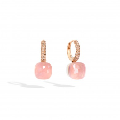 Обеци - Rose Quartz Nudo Classic Earrings