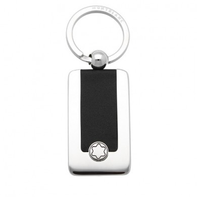 Ключодържател - Montblanc Meisterstück Key ring, Metal, Full-grain Cowhide, Black