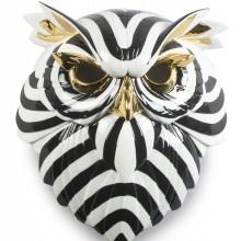Порцеланова фигура – Owl Mask –  Black аnd Gold