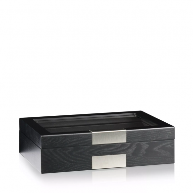 Кутия за часовници - Watch Box Monteray 10 Ash - Black Satin