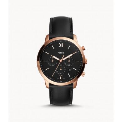 Neutra Chronograph Black Leather