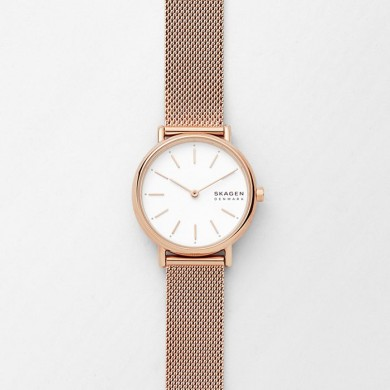 Signatur Slim Rose Gold-Tone Steel-Mesh