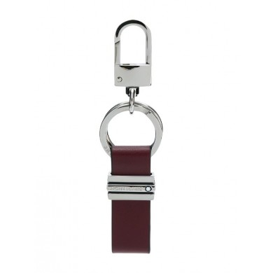 Ключодържател - Montblanc Meisterstück Key ring, Metal, Full-grain Cowhide, Burgundy