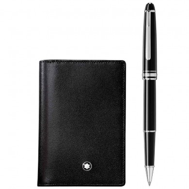 Сет - Meisterstuck Classique Rollerball Pen and Business Card Holder Gift Set