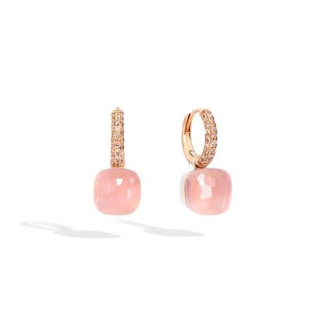 Обеци - Rose Quartz Nudo Classic Earrings