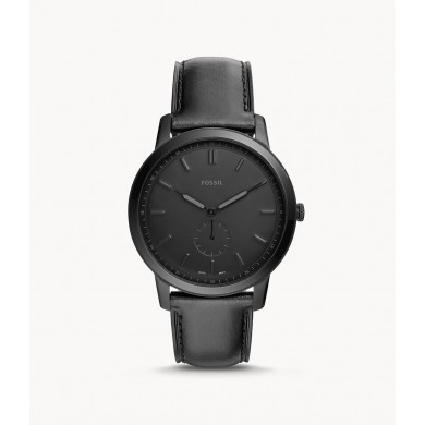 The Minimalist Two-Hand Black Leather