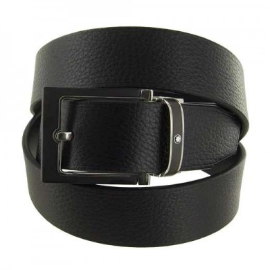 Колан - Casual Line Squared Stainless Steel & Black Matt PVD Pin Buckle