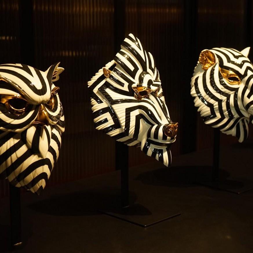 Порцеланова фигура – Tiger Mask – Black and Gold