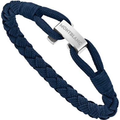 Мъжка гривна Wrap Me Blue Braided Nylon And Steel
