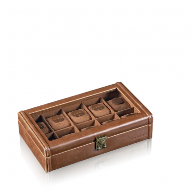Кутия за часовници - Watch Box with Window Camel 10 - Light Brown