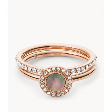 Дамски пръстен Classics Duo Grey Mother-of-Pearl and Rose Gold-Tone Steel