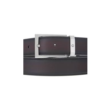 Колан - Mens Brown Leather Rectangular Pin Buckle Belt