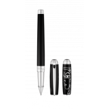 Ролер S.T.DUPONT LIGNE D PICASSO LARGE BLACK NATURAL LACQUER&PALLADIUM LIMITED EDITION