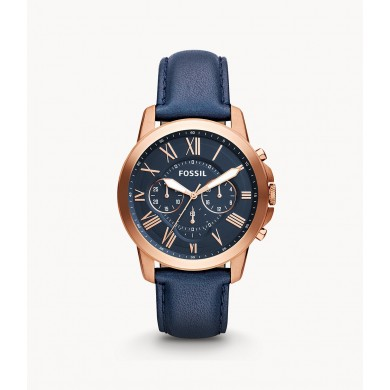 Grant Chronograph Navy Leather