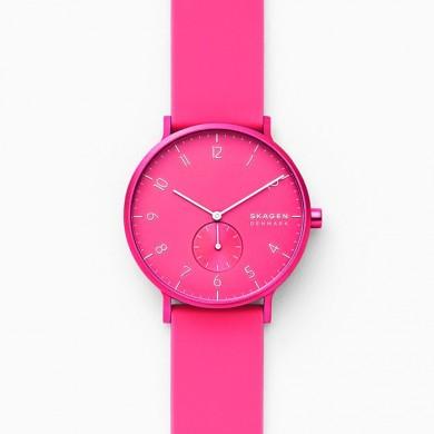 Aaren Kulor Neon Pink Silicone 41mm