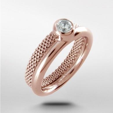Дамски пръстен Elin Rose Gold-Tone Crystal