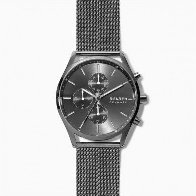 Holst Chronograph Gunmetal Steel-Mesh