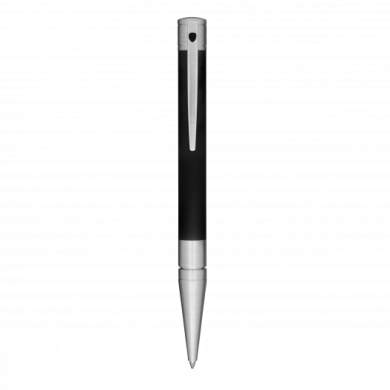Химикалка D-INITIAL BALL POINT/ BLACK&CHROME MATT