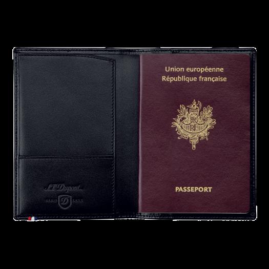 Калъф за паспорт LINE D / PASSPORT COVER BLACK